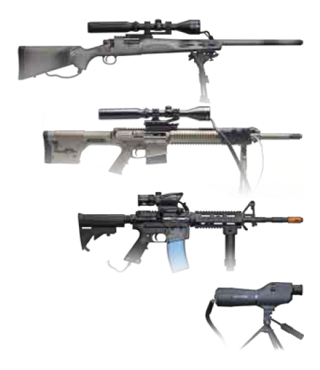 Crosshair weapons options